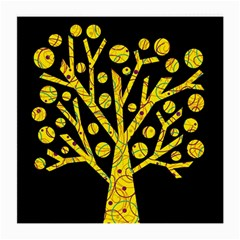 Yellow Magical Tree Medium Glasses Cloth (2 Side) by Valentinaart