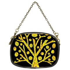 Yellow Magical Tree Chain Purses (two Sides)  by Valentinaart