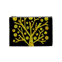 Yellow Magical Tree Cosmetic Bag (medium)  by Valentinaart