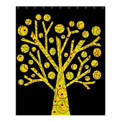 Yellow Magical Tree Shower Curtain 60  X 72  (medium)  by Valentinaart
