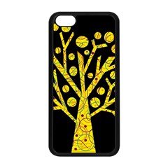 Yellow Magical Tree Apple Iphone 5c Seamless Case (black) by Valentinaart