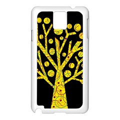 Yellow Magical Tree Samsung Galaxy Note 3 N9005 Case (white) by Valentinaart