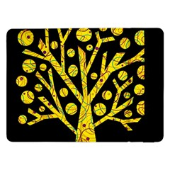 Yellow Magical Tree Samsung Galaxy Tab Pro 12 2  Flip Case by Valentinaart