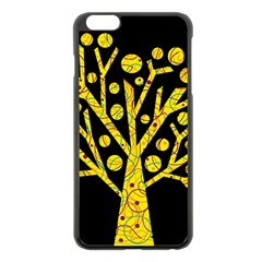Yellow Magical Tree Apple Iphone 6 Plus/6s Plus Black Enamel Case by Valentinaart