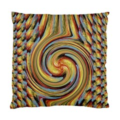 Gold Blue And Red Swirl Pattern Standard Cushion Case (two Sides) by digitaldivadesigns