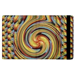 Gold Blue And Red Swirl Pattern Apple Ipad 2 Flip Case by digitaldivadesigns