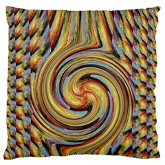 Gold Blue And Red Swirl Pattern Standard Flano Cushion Case (one Side) by digitaldivadesigns