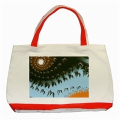 Sun Ray Swirl Design Classic Tote Bag (red)