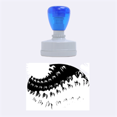Sun Ray Swirl Design Rubber Oval Stamps