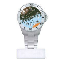 Sun Ray Swirl Design Plastic Nurses Watch