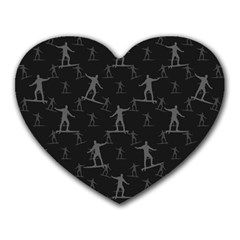 Surfing Motif Pattern Heart Mousepads by dflcprints