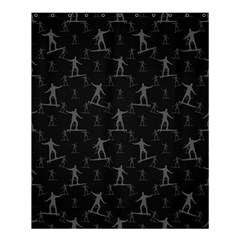 Surfing Motif Pattern Shower Curtain 60  X 72  (medium)  by dflcprints