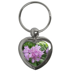 Purple Rhododendron Flower Key Chains (heart)