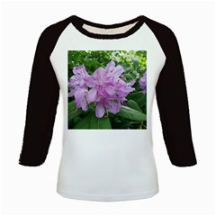 Purple Rhododendron Flower Kids Baseball Jerseys by picsaspassion
