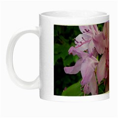 Purple Rhododendron Flower Night Luminous Mugs by picsaspassion