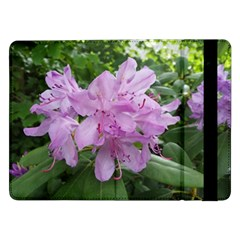 Purple Rhododendron Flower Samsung Galaxy Tab Pro 12 2  Flip Case by picsaspassion
