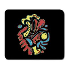 Colorful Abstract Spot Large Mousepads by Valentinaart