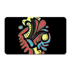 Colorful Abstract Spot Magnet (rectangular) by Valentinaart