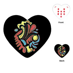 Colorful Abstract Spot Playing Cards (heart)  by Valentinaart