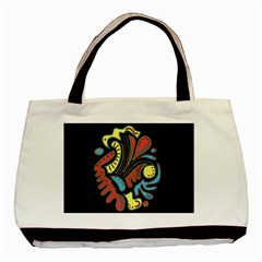 Colorful Abstract Spot Basic Tote Bag by Valentinaart