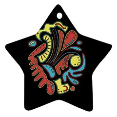 Colorful Abstract Spot Star Ornament (two Sides)  by Valentinaart