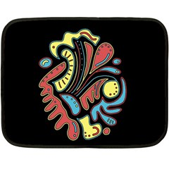 Colorful Abstract Spot Fleece Blanket (mini)