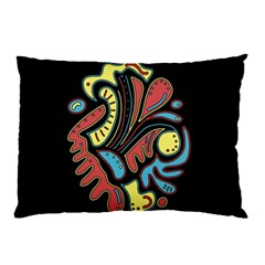 Colorful Abstract Spot Pillow Case (two Sides) by Valentinaart