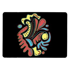 Colorful Abstract Spot Samsung Galaxy Tab 10 1  P7500 Flip Case by Valentinaart