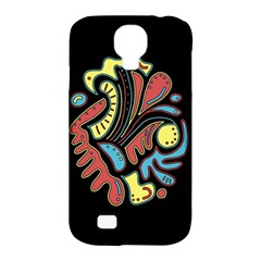 Colorful Abstract Spot Samsung Galaxy S4 Classic Hardshell Case (pc+silicone) by Valentinaart