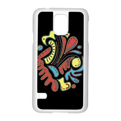 Colorful Abstract Spot Samsung Galaxy S5 Case (white) by Valentinaart