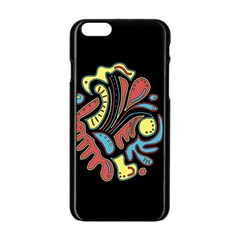 Colorful Abstract Spot Apple Iphone 6/6s Black Enamel Case by Valentinaart