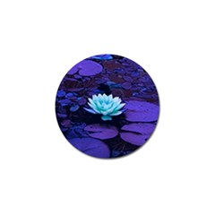 Lotus Flower Magical Colors Purple Blue Turquoise Golf Ball Marker (4 Pack) by yoursparklingshop