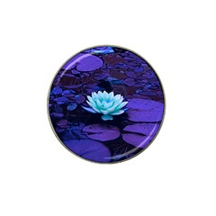 Lotus Flower Magical Colors Purple Blue Turquoise Hat Clip Ball Marker (10 Pack) by yoursparklingshop