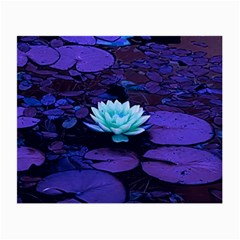 Lotus Flower Magical Colors Purple Blue Turquoise Small Glasses Cloth by yoursparklingshop