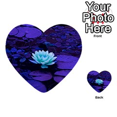 Lotus Flower Magical Colors Purple Blue Turquoise Multi Purpose Cards (heart)  by yoursparklingshop