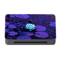 Lotus Flower Magical Colors Purple Blue Turquoise Memory Card Reader With Cf by yoursparklingshop