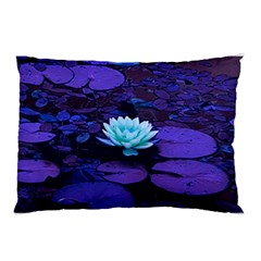 Lotus Flower Magical Colors Purple Blue Turquoise Pillow Case (two Sides) by yoursparklingshop