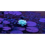 Lotus Flower Magical Colors Purple Blue Turquoise BELIEVE 3D Greeting Card (8x4) Back