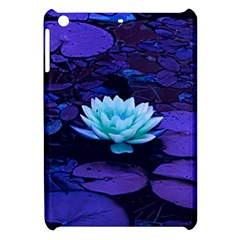 Lotus Flower Magical Colors Purple Blue Turquoise Apple Ipad Mini Hardshell Case by yoursparklingshop