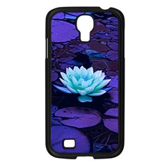 Lotus Flower Magical Colors Purple Blue Turquoise Samsung Galaxy S4 I9500/ I9505 Case (black) by yoursparklingshop