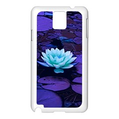 Lotus Flower Magical Colors Purple Blue Turquoise Samsung Galaxy Note 3 N9005 Case (white) by yoursparklingshop