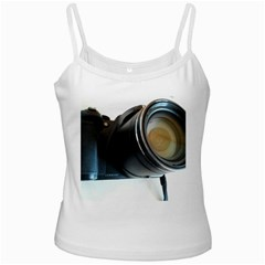 My Camera White Spaghetti Tank by picsaspassion