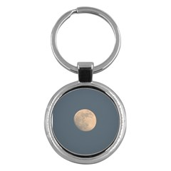 The Moon And Blue Sky Key Chains (round)