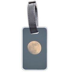 The Moon And Blue Sky Luggage Tags (one Side)  by picsaspassion
