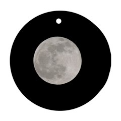 Full Moon At Night Ornament (round)  by picsaspassion