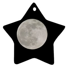 Full Moon At Night Ornament (star)  by picsaspassion