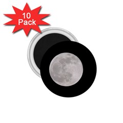 Full Moon At Night 1 75  Magnets (10 Pack)  by picsaspassion