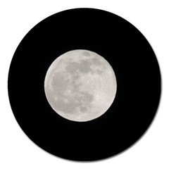 Full Moon At Night Magnet 5  (round) by picsaspassion