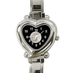 Full Moon At Night Heart Italian Charm Watch