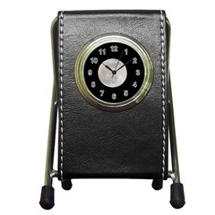 Full Moon At Night Pen Holder Desk Clocks